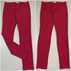 CURRENT ELLIOTT The Ankle Skinny Bright Rose Jeans